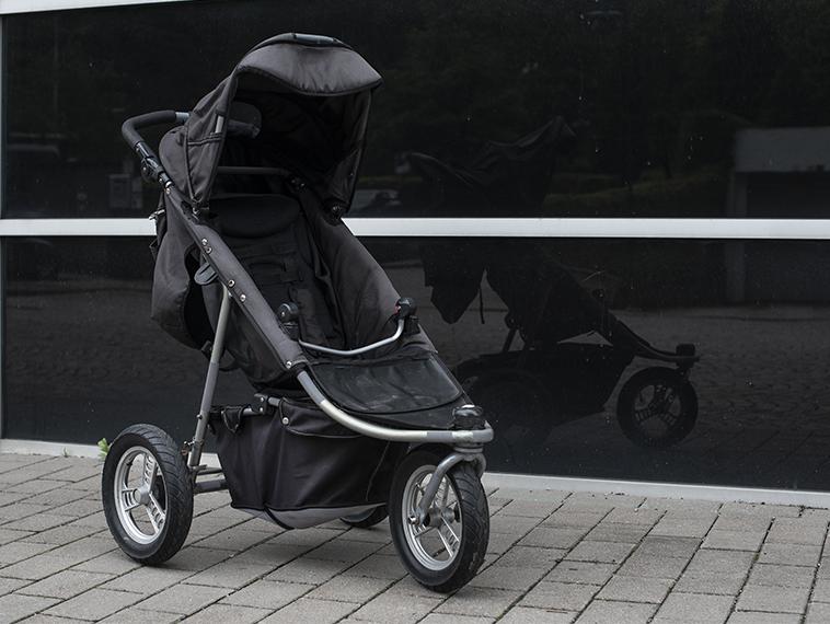 Reflextejp barnvagn